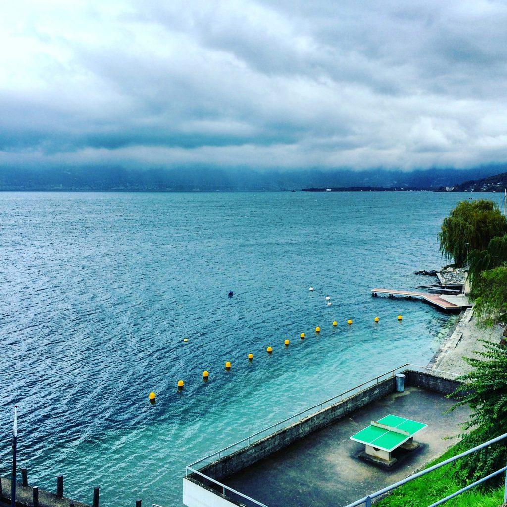 Table tennis, Lake Geneva (2015)