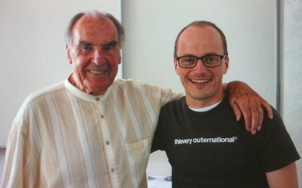 Jörg-Christian Dippold mit Max Lüscher  beim Expertenseminar in Brunnen, Schweiz, 2012